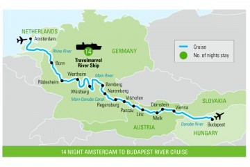 17 Day Travelmarvel River Cruise Package – Amsterdam to Budapest