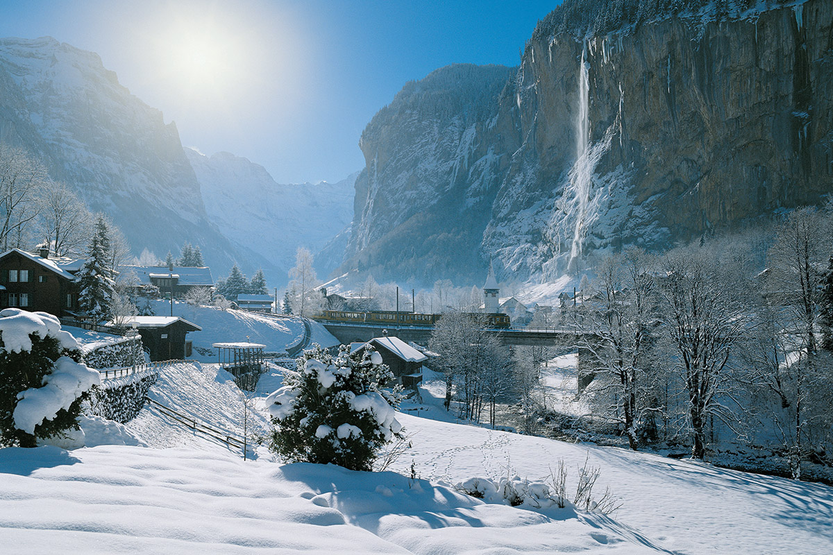12 day Swiss Winter Wonderland tour with scenic trains and flights
