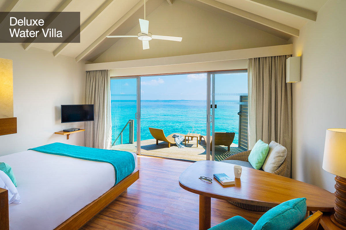 5 nights at the 5-star Centara Ras Fushi Resort & Spa, Maldives